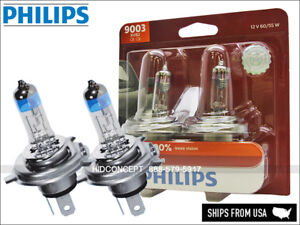 H4 9003 PHILIPS X-treme Vision +100% more light Halogen bulbs PAIR 9003XVB2