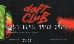 Daft Punk USED Member Card Daft Club