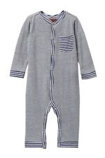 7 For All Mankind Baby Boy Size 6-9 Months One Piece Sleeper Outfit NWT $30