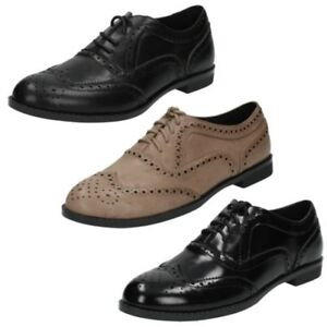 Ladies Spot On Casual Brogue Style 'Shoes'