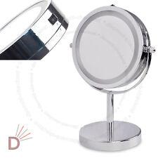 Lupa Redondo Iluminado LED Espejo de vanidad cosméticos y maquillaje para Cuarto de Baño Regalo