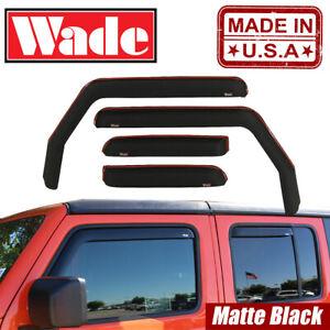 Matte Black Window Deflectors Visors In-Channel For Jeep Gladiator 2020
