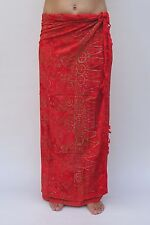 NEW EXTRA LARGE LONG UNISEX PREMIUM QUALITY RED BEACH SARONG WRAP BNIP /saL528P
