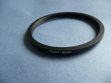 67mm to 62mm Male-Female Stepping Step Down Filter Ring Adapter 67mm-62mm UK