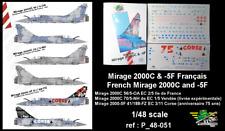[FFSMC Productions] Decals 1/48 Mirage 2000C et -5F Français (ref P_48-051)