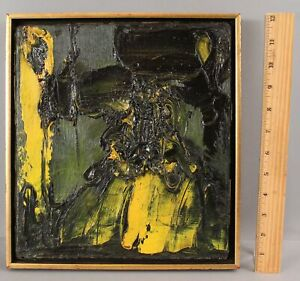 Small 1950s Vintage JOACHIM PROBST Abstract Expressionist Impasto Painting, NR
