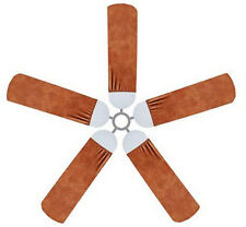 Ceiling Fan Blade FABRIC Cover LEATHER-LOOK decor 5 decorative pcs suede-like