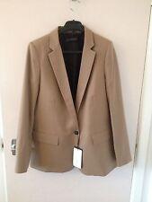 Zara Button Wool Coats & Jackets Blazer for Women