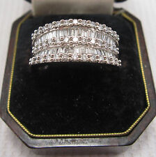 14 Carat Band Very Good Cut White Gold Fine Diamond Rings