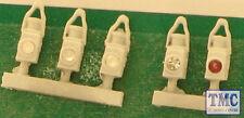 SPDA19-5 Springside OO Gauge BR Head & Tail Lamps White 5pk
