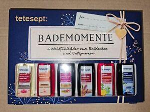 Geschenkset Tetesept Bademomente Badezusatz Probierset Geschenk 6 x 20ml OVP
