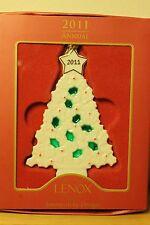 Lenox 2011 Holly Tree Christmas Ornament Nib &ready for the holiday