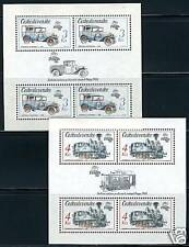 CZECHOSLOVAKIA TRAIN SC#2657/8, MICHEL BL70/71  MINT NH