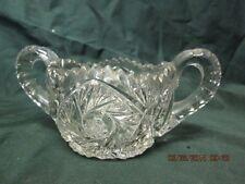 Pressed Glass Sugar Bowl #196