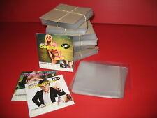 LOT 100 POCHETTES PROTECTION PLASTIQUE POUR CD SINGLE 2 TITRES