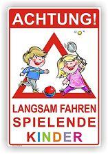 SPIELPLATZ  ACHTUNG LANGSAM FAHREN SPIELENDE KINDER 3mm Alu-Verbund Art. Kind. 7