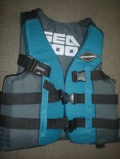 "SEA DOO Life Vest Ski Vest PFD Adult Medium 36' - 40"" Green Gray & Black New OEM"