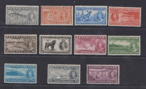Newfoundland Long Coronation 1937.SG144-154. Scott 233-243.AKA Additional Coron.