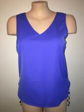 Portmans Navy Blue V Neck Sleeveless Camisole Formal Singlet Size 14