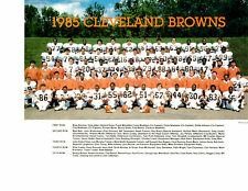 1985 CLEVELAND BROWNS TEAM 8x10 PHOTO WEATHERS NEWSOME OHIO FOOTBALL NFL
