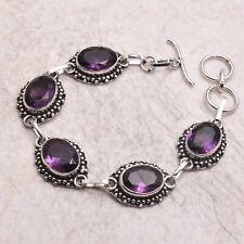 18 Gms Ab 67616 Amethyst Ethnic Handmade Bracelet Jewelry