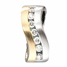 NEU Diamanten Designer Anhänger bicolor 585 echt Gold Gelbgold 14 Karat 0,49 ct.
