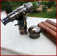 """New Wooden Walking Stick Cane With hidden BLACK Telescope On Handle- 38"""" Long"""