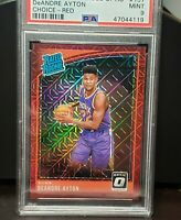 2018 Panini Optic Choice DeAndre Ayton Red Mojo Prizm /88 Rookie RC Suns PSA 9