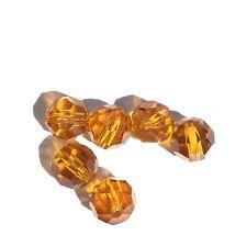 Czech Preciosa Crystal Round Golden Honey 6 Loose Beads