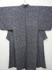 Blue-Gray Silk Japanese KIMONO w/BANGASA Umbrella G777