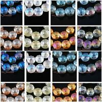 10Pcs Colorized Polish Chic Flower Glass Crystal UFO Spacer Beads 14mm Loose