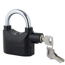 Siren Alarm Lock Security Anti-Theft Alarmed Padlock Motor Bike Bicycle Black US