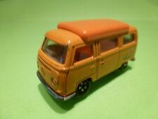 MATCHBOX 23 VW VOLKWAGEN BUS CAMPER - ORANGE 1:66? - GOOD CONDITION