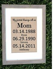 Mothers day gift for mom, My Greatest Blessings call me mom, FRAME NOT INCLUDED.