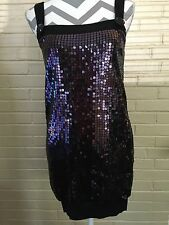 Forever 21 Black And Purple Sequined Dress Size Juniors Small Formal US SELLER