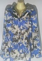 NOTATIONS Brand Women's Size XL Blouse Button Front Long Sleeve Top Multi Color
