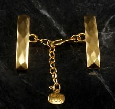 Vintage Jewelry Clasp 6 Strand Carolee Lux Clasp Gold Plated Hammered Metal