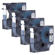 Compatible for DYMO 45013 D1 Label Tape Cartridge Cassette 12mm Ribbon 4pk