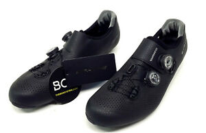 Shimano RC9 S-Phyre Carbon Road Bike Shoes, Black, US 10.5 / EU 45