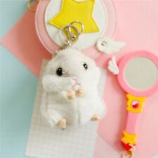 Trinket Mini Hamster Keychains Women Fluffy Toy Doll Car Key Ring Keychainbdau