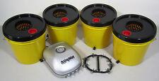 Hydroponic System 4 Bucket 1 Gallon Honey Bee Deep Water Culture Modular Hydro