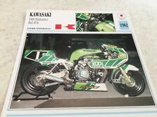 Carte moto  Kawasaki 1000 endurance bol d'or 1982 collection atlas motorcycle