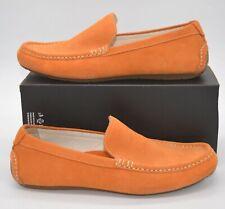 Cole Haan Somerset Nike Air Loafers Men sz 10M Orange Suede Driving Slip On lot