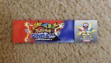 Nintendo Pokemon Pinball Ruby & Sapphire Bookmark - Not For Resale NFR RARE!!!
