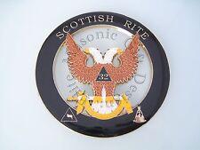 Masonic 32nd degree Wings Up Scottish Right Cut Out Car Auto Emblem.