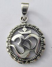 Sterling  Silver  (925)   Om  Pendant   (4 Grams)   !!        Brand New !!