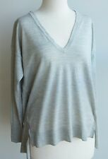 Witchery Oversized 100% Merino Wool V-Neck Assymetric Sweater Pullover Jumper