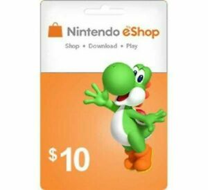Nintendo eShop 10$ Gift Card Fast Digital Delivery