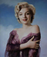 LMOP579 portrait sexy Marilyn Monroe 100%  hand painted art oil painting canvas