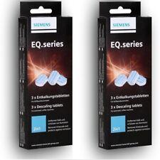 2x 3 Siemens EQ.series TZ80002 Entkalkungstabletten 2in1 für Kaffeevollautomaten